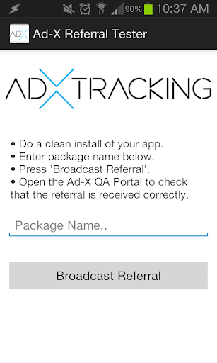 Ad-X Referral Tester