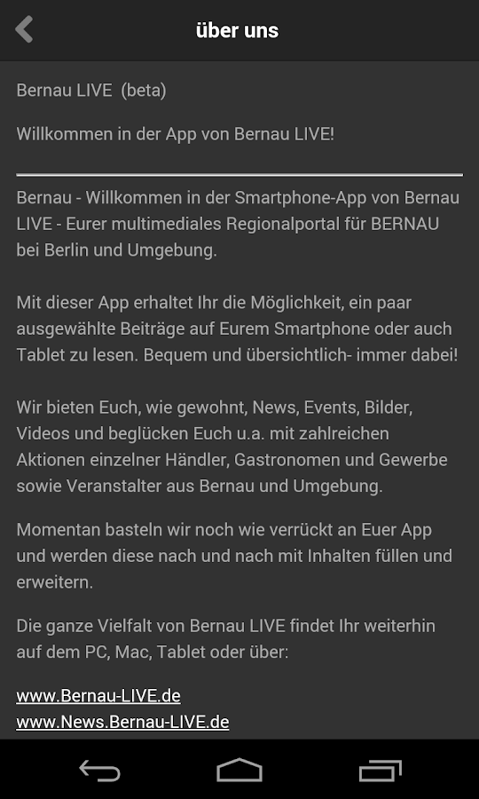 Bernau LIVE to Go! – Screenshot