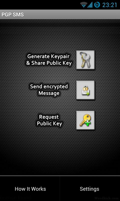 PGP SMS lite- screenshot