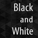 Black and White Atom theme icon