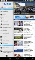 Screenshot of RTV Oost Tablet app