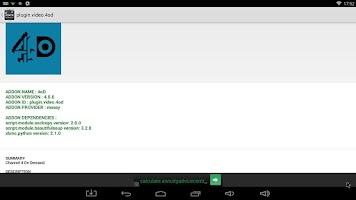 Screenshot of XBMC Dependency Walker (Addon)