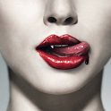 Vampire in 3D icon