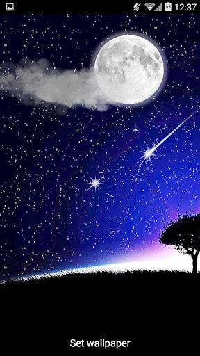 月亮和流星