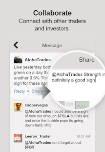 StockTwits stock market pulse - screenshot thumbnail