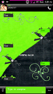 Simply Lime GO SMS PRO Theme - screenshot thumbnail