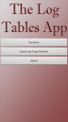 The Log Tables - screenshot