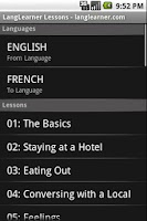 Screenshot of LangLearner Lessons Free