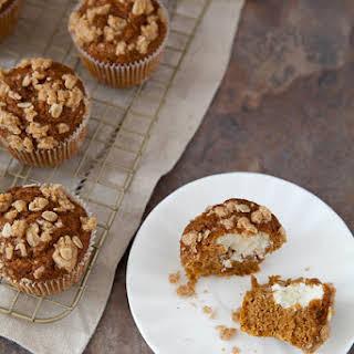 Lighter Pumpkin Cream Cheese Muffins.