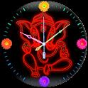 Neon Ganesh Clock