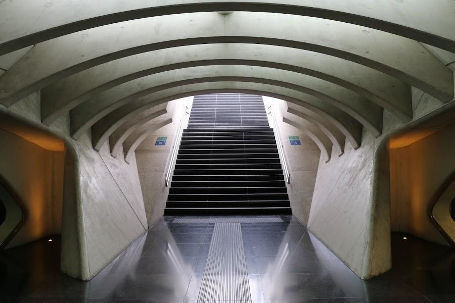 Lüttich - stairways by Axel K. Böttcher - Buildings & Architecture Architectural Detail