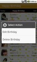 Screenshot of Happy Birthday Free
