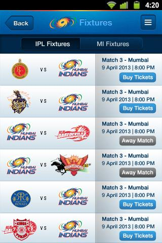 Mumbai Indians - screenshot