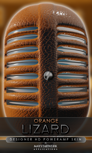 Poweramp skin orange lizard