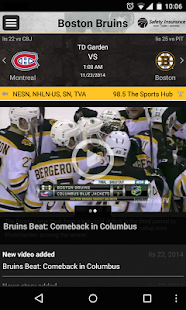 Boston Bruins Official App- screenshot thumbnail