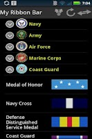 Screenshot of Military Awards