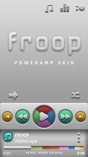 Poweramp skin Froop