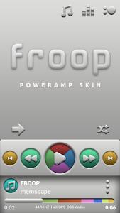 Poweramp skin Froop v1.32