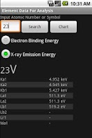 Screenshot of Element Analysis