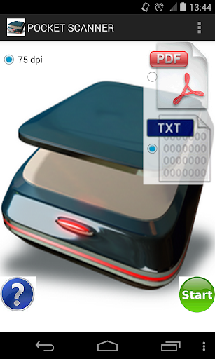 Pocket scanner to PDF or TXT