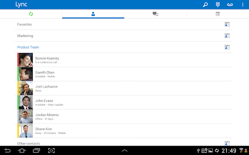 Skype for Business for Android Screenshot 15