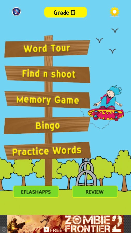 Sight Words 2 with Word Bingo- screenshot