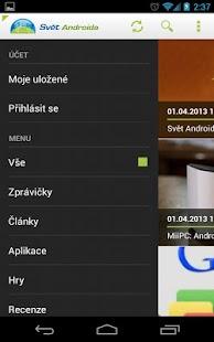 SvetAndroida.cz- screenshot thumbnail