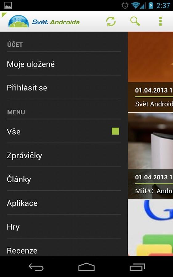 SvetAndroida.cz - screenshot
