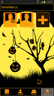 Halloween - GO Contacts Theme- screenshot thumbnail