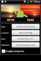 Screenshot of Droid Suntime