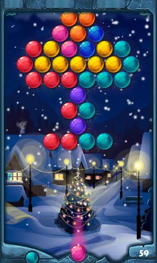 Winter Christmas Bubble Shoot