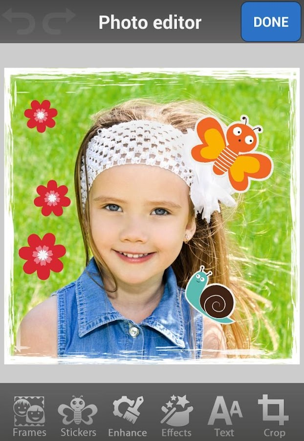Kids Photo Frames & Stickers - screenshot