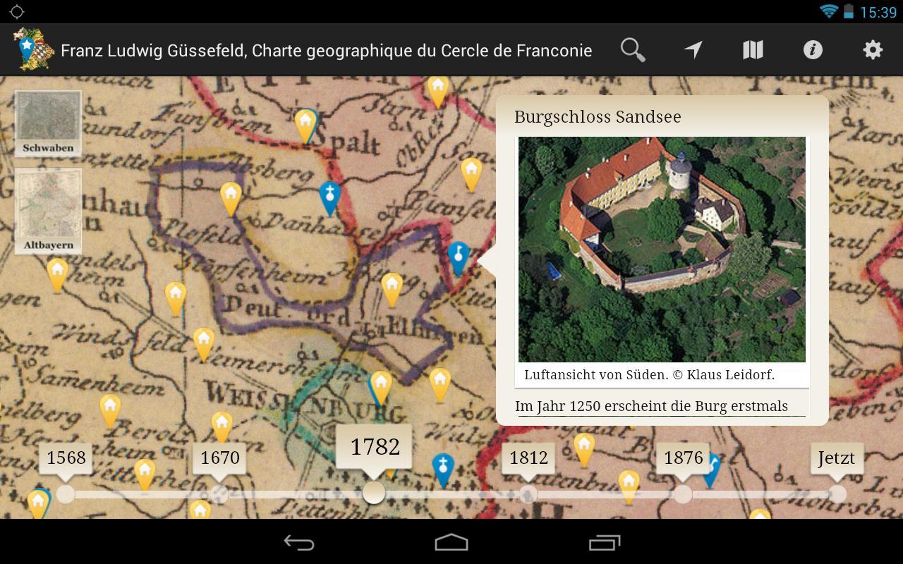 Bayern in historischen Karten- screenshot