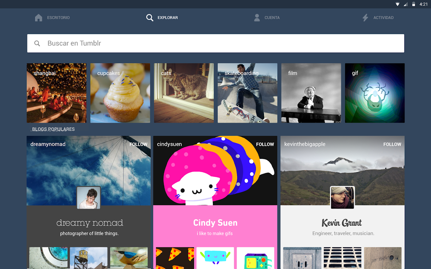 Tumblr - screenshot