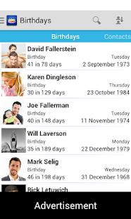 Birthdays - Free - screenshot thumbnail