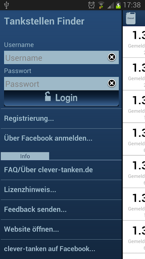 clever-tanken.de - screenshot