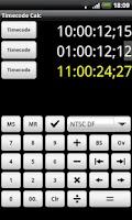 Screenshot of Timecode Calculator