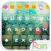 Rain Love Emoji Keyboard Theme