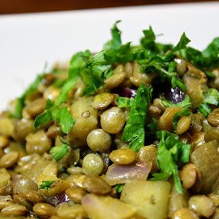 Lentils With Eggplant.