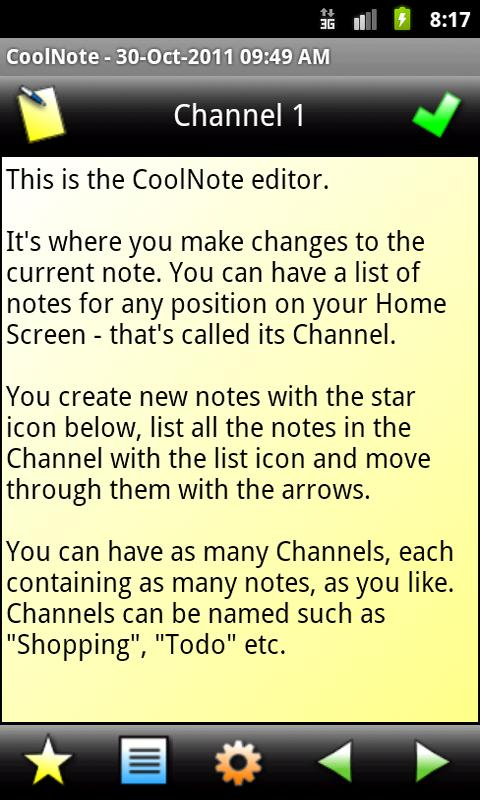 CoolNote- screenshot