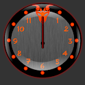 Red Dragonglow Clock Widget
