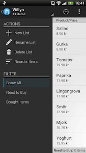 Shopping List Pro screenshot 1