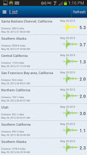 Earthquake Map and Alerts- screenshot thumbnail