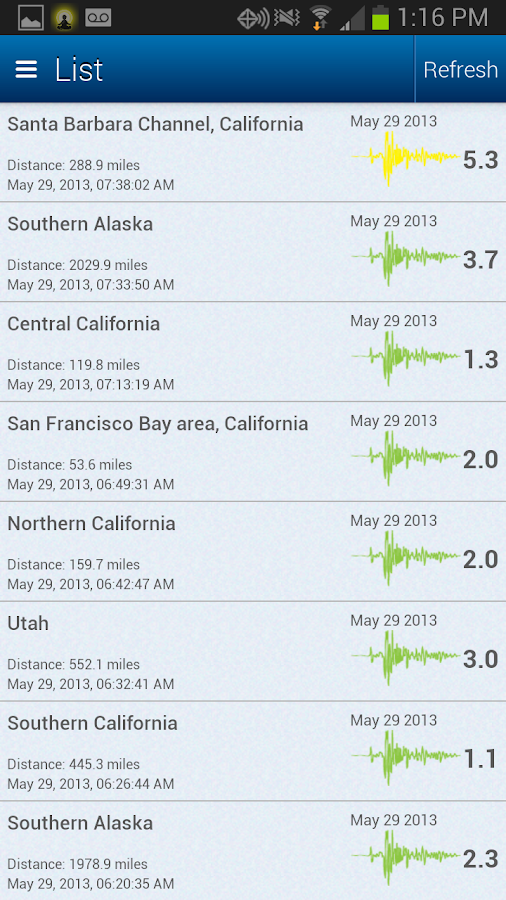 Earthquake Map and Alerts - screenshot