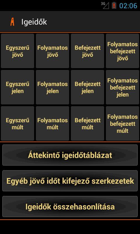 Angol nyelvtan- screenshot