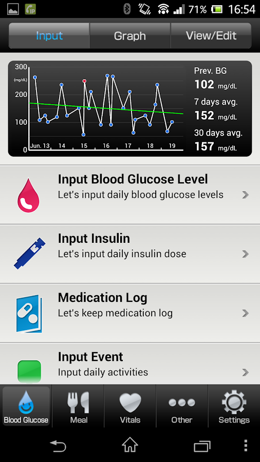 Pedometer for Smart e-SMBG- screenshot