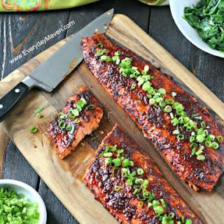 Spicy Glazed Salmon.