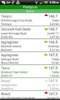 Screenshot of Pumps.ie