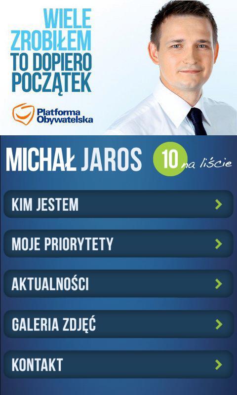 Mój Poseł Michał Jaros - screenshot
