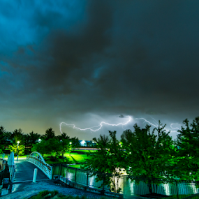 Thunderstorm - Carol Stream Il by MIGUEL CORREA - Landscapes Weather ( thunder, park, thunderstorm, raining, weather, rain )
